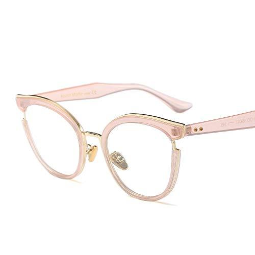 WULE-RYP Polarisierte Sonnenbrille mit UV-Schutz Mode Classic Horn umrandeten klare Brille, Retro Brillengestell für Frauen Superleichtes Rahmen-Fischen, das Golf fährt (Farbe : Rosa)