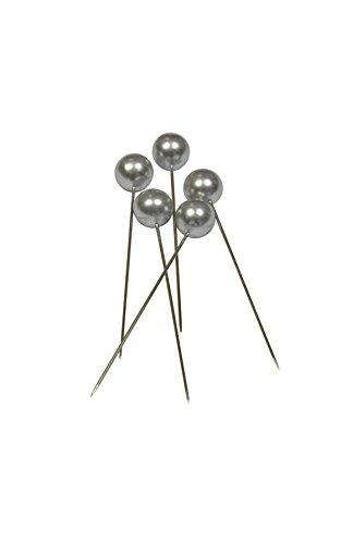 Corderie Italiane 006042471 Deko-Nadeln, Durchmesser: 6 x 65mm, 100 Stück, silberfarben