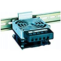 Stego 03103.0-00 Modelo HVL 031 Resistencia Calefactora con Ventilación, con Termostato, 150 W, 80 mm Altura x 112 mm Ancho x 47 mm Longitud, 230 VAC, 50/60 Hz