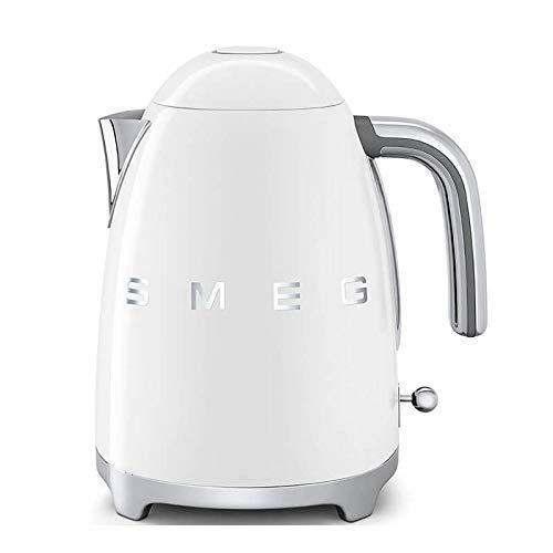 SMEG Calentador de Agua electrico, hervidor KLF03WHEU, 2400 W, 1.7 litros, Acero Inoxidable, Blanco
