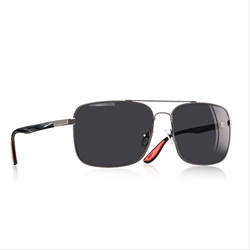 JU DA Sonnenbrillen Sonnenbrille Männer Fahren Männliche Polarisierte Gläser Klassische Vintage Quadratische Rahmen Brillen Oculos Gafas Uv400 C2GUN