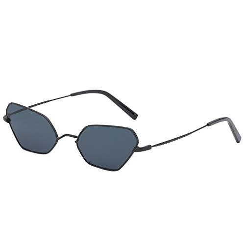 Scrolor Sonnenbrille Stylische Unisex vintage brille frauen unregelmäßigen rahmen sonnenbrille retro stil mode einfarbig(E,free)