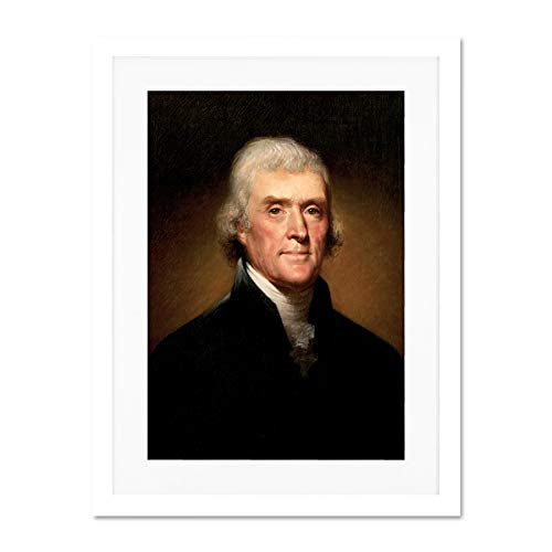 Painting Illustration President Thomas Jefferson Large Art Print Poster Wall Decor 18x24 inch Supplied Ready To Hang With Included Mount Brackets Malerei Präsident Große Kunst Wand Deko -