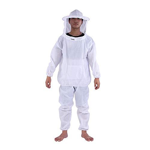 Aramox Bienenzucht Anzug Bienenzüchter Bee Suit, professionelle Imker Ausrüstung Hooded Jacket + Pants Total Protection für professionelle und Anfänger Imker -