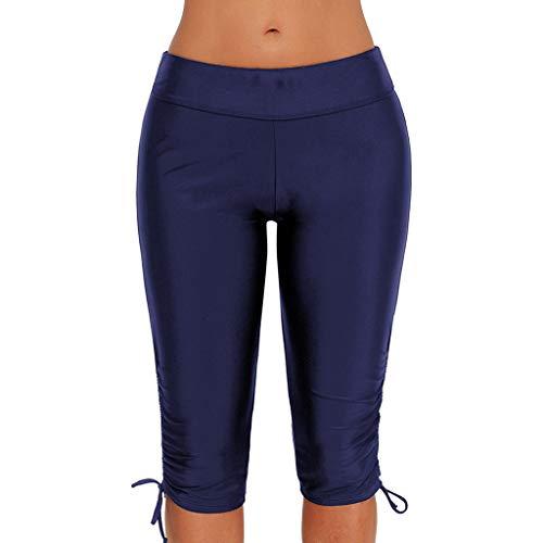 CAOQAO Damen Antibakteriell Quick-Dry-Funktion Sportkleidung Damen Fitness Badebekleidung Plus Size Bottom Shorts Badeshort