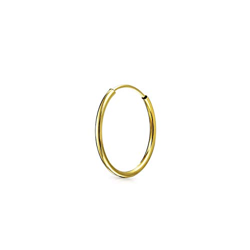 Oro 14K classico sottile leggero delicato Hoop daith piercing conchiglia Helix trago cartilagine dell' orecchio orecchino 12mm