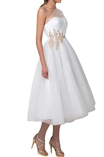 Carnivalprom Damen A-Linie Hochzeitskleid Brautkleid Eine Schulter Festkleid...