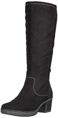 Softline Damen 25662 Stiefel, Schwarz (Black), 40 EU (Suede Boots Knee High Faux)