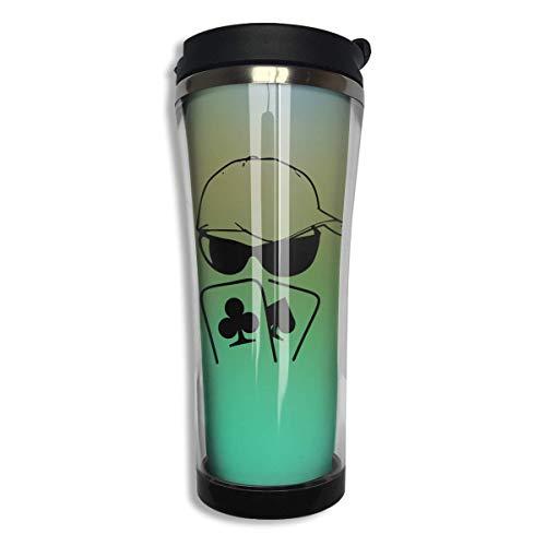 Poker Sunglasses Man Stainless Steel Coffee Mug 14.2 Oz Travel Mug Leakproof Insulated