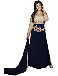 Active Women's Net And Georgette Designer Anarkali Gown (Free Size)