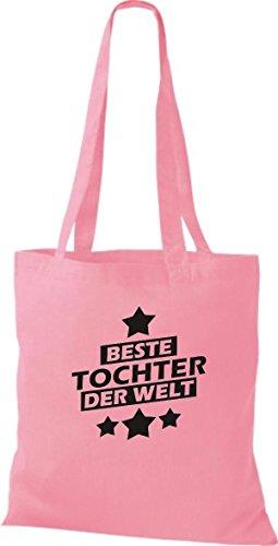 Shirtstown Stoffbeutel beste Tochter der Welt rosa