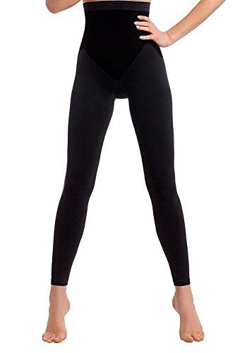 formende leggings TESPOL sehr hochwertige figurformende Damen-Shaping-Leggings seamless, schwarz, Gr. XL (42)