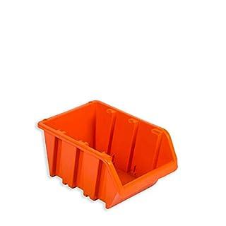 10 Sichtlagerkästen Stapelboxen Orange Gr.3 Stapelkisten Stapelbehälter