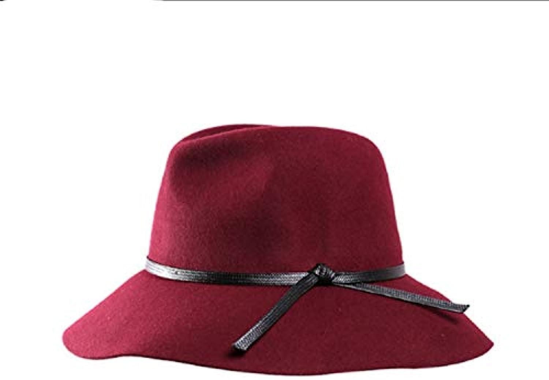 RONGLINGXING Cappelli Invernali per Le Donne Cappello di Cappello Lana Cappello  di Top Femminile dachy Jazz cap Retro Autunno... Parent b4a76e 96759416b491