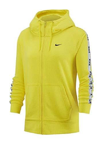 Nike Sportswear Full-Zip Hoodie Sudadera, Mujer, Amarillo (OPTI Yellow/White), L