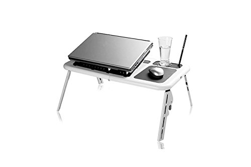Foto de Mesa pequeña de cama para notebook y portátil