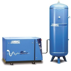 Compresseur d'air silencieux, cylindre fonte, rÃservoir vertical 500 litres ABAC