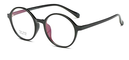 Flydo TR90 Super Leichtgewicht Brille Klassische Rund Vintage Look clear lens BrilleOhne Sehstärke Fensterglas Brille Herren Damen
