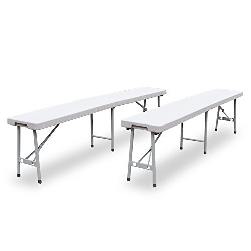 Buffettisch Kombi mit Tisch und Bank Bierbank Klapptisch Esstisch Camping-Set 180cm (2x Bank, - Klapp-esstisch