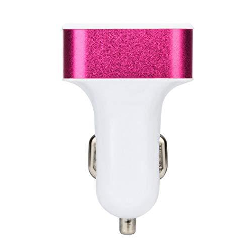 MuSheng For Ladegerät Stecker,4.0A Auto USB Bequem Sync 4 Port Handy Kabel Adapter Ladegerät Lade Metall Buchse (Hot Pink) Sync-ladegerät-adapter