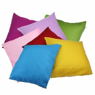 Candy Color Simple Design Pure Cotton Pillow Case Cushion Cover