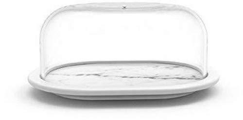 Zak! designs 1303-160 Osmos Beurrier, marbre/Blanc