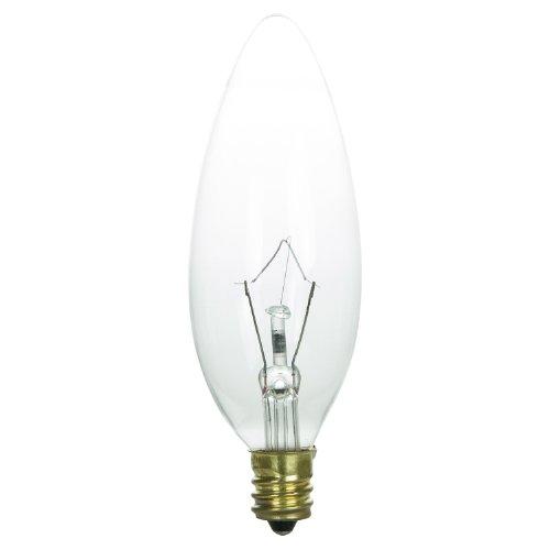 Sunlite k60ctc/ll Glühlampen, Kandelaber Gluehbirne basiert, Kronleuchter Krypton Glühbirne, Torpedo Spitze, transparent -