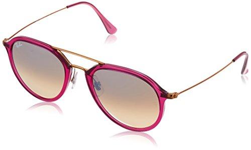 RAYBAN Unisex Sonnenbrille 0rb4253 62359u 53 Mehrfarbig (Gestell: pink,Gläser: grau, Medium (Herstellergröße