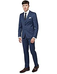 DKNY Slim Fit Blau Pinhead Anzug Jacke Sakko