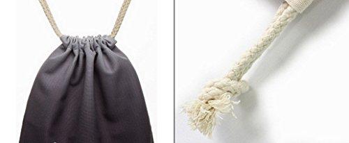 Imagen de feoya  bolsa de deporte con cordones para hombre mujer tipo saco negro alternativa