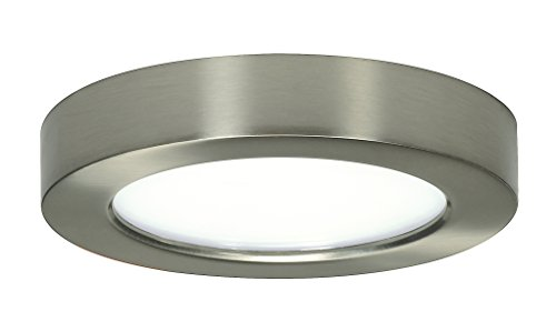 Satco Products S9321 Blink Flush Mount LED Fixture, 10.5W/5, Brushed Nickel by Satco (Nickel Flush-mount-beleuchtung)