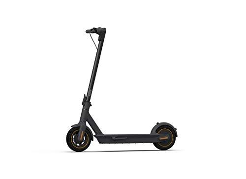 Ninebot by Segway Max G30 Monopattino Elettrico Ripiegabile, Doppio Sistema frenante e Pneumatico tubeless da 10 Pollici, Plastic, Black, One Size