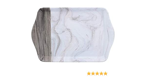 lettere e chiavi in marmo e legno design creative tops C000316/mini t/è piccolo vassoio per gioielli bianco//grigio