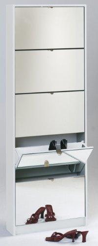 iovivo Schuhkipper mit Spiegeln weiß