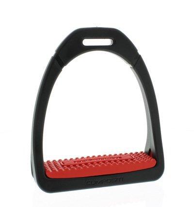 Étrier plastique Compositi Étrier en plastique, 12cm, avec insert colorée, Compositi Profile, Étrier, Couleur?: Rouge