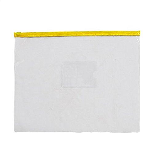 Slider Bag - TOOGOO(R) 20 Stueck Klar PVC gelb Slider ZipLock Beutel Dateien Halter fuer A4-Papier (Papier-beutel-halter)