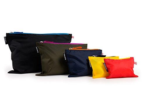 kiezels - organizer per valigia o zaino - 5 diverse misure - 5 colore