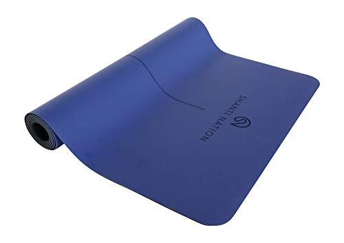 SHANTI NATION - Shanti Mat Pro XL - rutschfeste Yogamatte - extra groß - 195 x 68 x 0,4 cm - mit Naturkautschuk - auch für Pilates & Fitness