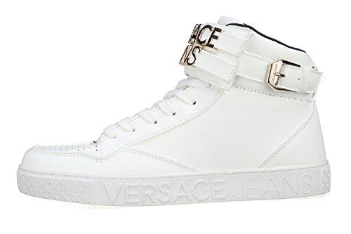Versace Jeans Linea Cassetta Logata Dis2 003 Metal Lettering E0YRBSD270112003, Basket Blanc