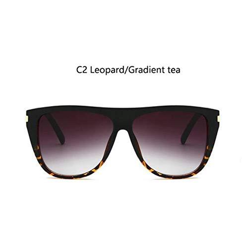 YOGER Sonnenbrillen Retro Frauen Flat Top Quadrat Sonnenbrille Elegante Niet Männer Übergroßen Sonnenbrille Weibliche Kim Kardashian Sonnenbrille