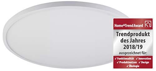 Müller-Licht LED Panel Round 50, Wand- und Deckenleuchte, über An/Aus-Schalter farbveränderlich: 2200 K/3000 K/4000 K, 50 cm, 2100 lm, 28 W, weiß