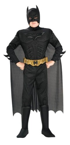 Knight Kostüme Fancy Dress (Rubies 3881290 - Deluxe Muscle Chest Batman Child,)
