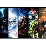Personnage de bande dessinée Hulk Iron Man Spiderman Captain America Silver Surfer Marvel Comics L Mouse Pad, Mousepad (25,9x 21,1x 0,3cm)