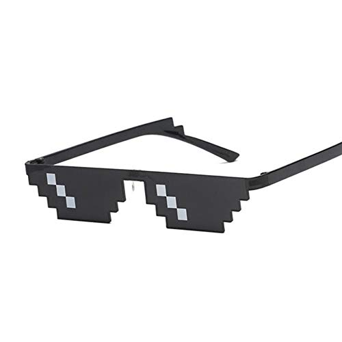 HUOYAN Brille 8 Bit Pixelated Sonnenbrille Frauen Brillen Damen Vintage Female Eyewear (Lenses Color : Single Row)