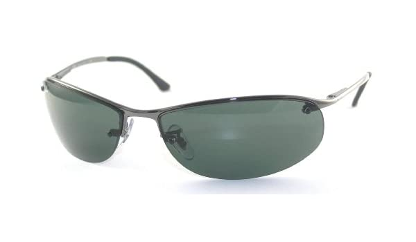 4b0747539f Ray Ban Rb 3179 (Top Bar Oval) 004 71 Gunmetal Sunglasses  Amazon.co.uk   Clothing