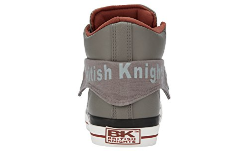 British Knights Roco, Baskets Basses Mixte Adulte GRIS/COGNAC
