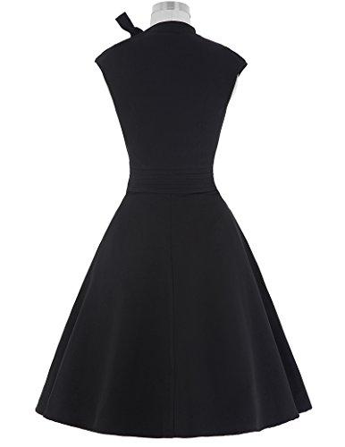 Vintage Retro Elegant Kleid Knielang Geburtstag Kleid L BP144-1 -