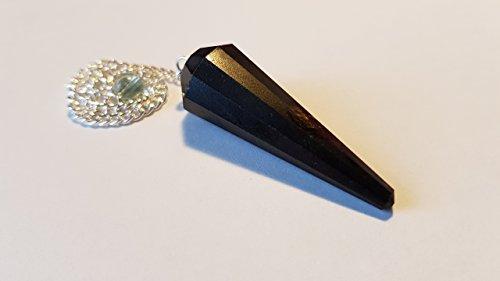 Pendolo gemma / pietra preziosa ametista cristallo di rocca ed altre sorte (tormalina nera)