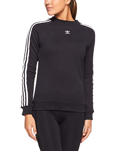 adidas Trefoil Sweat-Shirt Femme, Noir, FR : L (Taille Fabricant : 42)