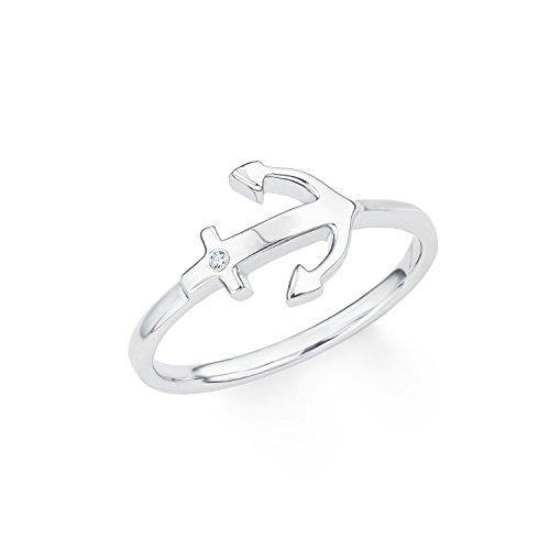 s.Oliver Ring für Damen aus rhodiniertem 925er Sterling Silber Weiß